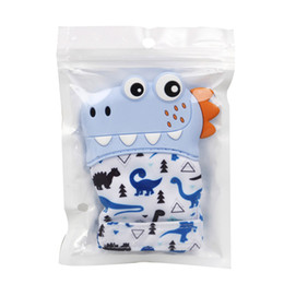 Spielzeug daumen online-Baby Zahnen Handschuhe Kind Saugen Finger Daumen Cartoon Ton Silikon Toy Toddle Nursing Beißring Fäustlinge Neugeborene Zahnpflege