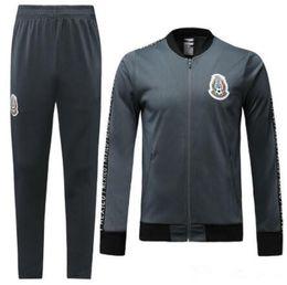2019 time de futebol mexico 2019/2020 México soccer jacket agasalho 19/20 equipe nacional CHICHARITO H.LOZANO México zíper completo futebol sportswear treinamento terno desconto time de futebol mexico