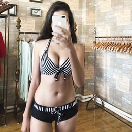 Biquíni sexy gordo on-line-2019 novo biquíni senhoras dividir swimsuit terno sexy pendurado no pescoço biquíni tamanho grande menina gordura maiô praia