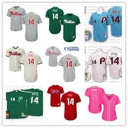 sportbekleidungsnähte Rabatt 2019 top Phillies # 14 Pete Rose Trikots herren # DAMEN # JUGEND # Herren-Baseballtrikot Majestic Stitched Professional sportswear