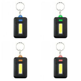 Iluminação led de mistura de cores on-line-Acampamento ao ar livre Cycing COB Lanterna Chaveiro Color Mix Mini Luz Chaveiros Presentes Portáteis Lâmpada Chave Fivela de Venda Quente 1 9es E1