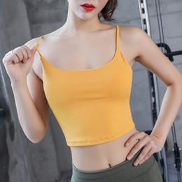 2019 camisetas de tirantes de spandex para mujer Nuevas Mujeres Sexy Backless Strappy Ladies Sports Bra Tops Activewear Para Mujeres Ejercicio Sporty Tank Sport Compression Athletic Top camisetas de tirantes de spandex para mujer baratos