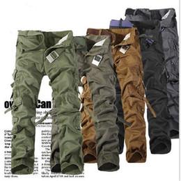 Bosibio Herren Cargo Pants Lässige Männer Hose Multi Tasche Grau Fashions Männlichen Baumwolle Militär Hosen Marke Kleidung G3533 Mutter & Kinder