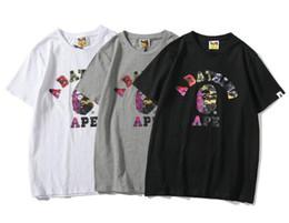 Luxury Summer Mens Cartoon Apes T -shirt Moda girocollo corto-Maniche classiche Camo stampato alito maschile Top Tees Cartton Casual Tees da