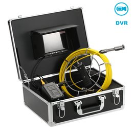 câmera lcd de inspeção Desconto Fábrica Atacado 20M esgoto Inspeção laterais Vídeo Waterproof Camera LCD de 7