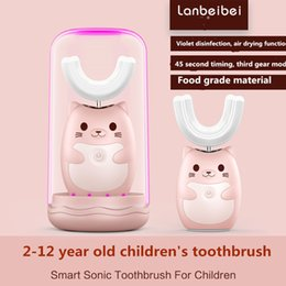 Spruzzo ultrasuoni automatico artefatto di spazzolatura u-baby bambino spazzolino elettrico 6-12 che carica la bocca contenente da kit di stoccaggio trucco fornitori