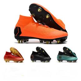 newest collection 6f180 8d883 2019 Nuovi arrivi scarpe da calcio alta caviglia da uomo CR7 Mercurial  Superfly VI 360 Elite SG scarpe da calcio AC Superfly scarpe da calcio  Neymar ACC