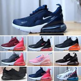 2019 chica de moda zapatos de deporte Nike air max 270 28-35 Nueva marca para niños zapatos de lona de moda zapatos altos y bajos zapatos de lona deportivos para niños y niñas y zapatillas deportivas para niños chica de moda zapatos de deporte baratos