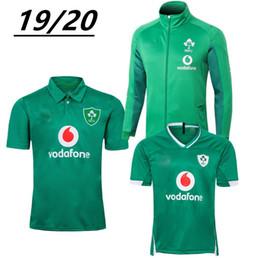camiseta de fútbol de australia Rebajas Shiping libre de calidad superior 19 20 Irish Rugby camisetas de Irlanda Wor Cp hogar lejos de Rugby formación jersey de la camisa del juego del POLO