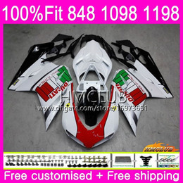 iniezione 1198/ 1098/ 848/ Carene per Ducati 1098/ 848/ 1198/ 2007/  / 2011/ ABS Star moto carenatura Hot sales a iniezione