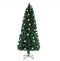 2020 árvore de fibra óptica Nova Natal 7ft pequeno Fibra Luz Natal Optic árvore 290 Ramos desconto árvore de fibra óptica