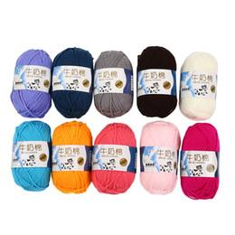 2019 camisola de crochê de mão Leite-Algodão Crochet Inverno Camisola Mão Tricô Leite Lenço De Algodão Mão De Malha Fios Tecelagem De Lã Chapéu Quente 2.5mm desconto camisola de crochê de mão