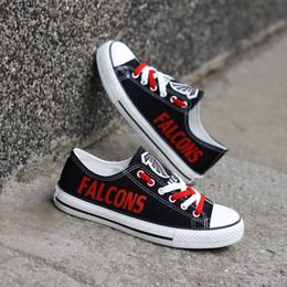795d236c8e7 2019 sapatilhas sapatos masculinos Moda América Fãs de Futebol Lona  Ocasional Sapatos Personalizar EUA Atlanta Cidade