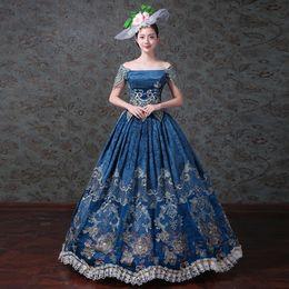 Vestidos Para Ocasiones Especiales Corte Century Renacimiento Vestido De Noche Vestido Para Mujer Elegante Traje De Fiesta Apliques Período Gótico