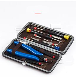 Canada MOQ 1 PCS Vapswarm V3 Kits d'outils pour Vape DIY RDA RBA Bobine de Construction Jig Allen Tournevis Ciseaux Pinces Brosse Brosse Portable Sac DHL Offre
