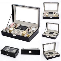 Mode 8 + 2 Kunstleder Uhr Schmuck Display Boxen Ring Box Speicherorganisator Mode Neue Uhren Speicherorganisator von Fabrikanten