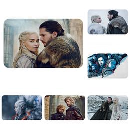 tappeti intrecciati all'ingrosso Sconti Game of Thrones Daenerys Jon Snow Zerbino Bagno Cucina Tappeto Decorativo Tappetini antiscivolo Sala Auto Piano Bar Tappeti Porta Regalo per la casa