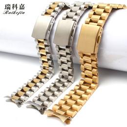 Reloj pulsera de acero 18mm online-Reloj de arco de boca con brazalete de acero inoxidable para hombres, universal, de 18 mm y 20 mm, para
