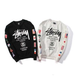 Canada Nouveau 2018 hoodies ST World Tour Peinture coloré Splash-ink Unisexe Sweats Tops Couples Hoodies Toison Oiseau OVO Drake D7925 Offre