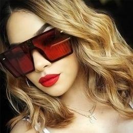 Argentina 2019 Gafas de sol cuadradas extragrandes planas de las mujeres de moda retro degradado gafas de sol hombres azul marco grande Vintage gafas UV400 Suministro