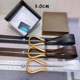 Cinghie designer per cinghie Designer Cintura Serpente Cintura in pelle di lusso Cinture commerciali nero Donne Big fibbia in oro con tracolla Box N5 5 centimetri da
