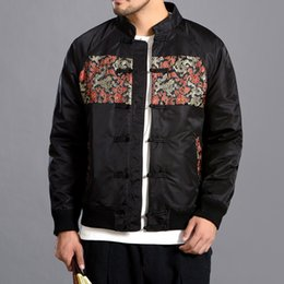 ea1cb808c1542 2018 Winter Jacket Men Parkas Mens New Chinese Styel Embroidered Coat Size  Padded Jacket Cotton Clothes M-5XL Veste Homme Hiver
