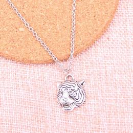 tiger kopf antiken anhänger Rabatt Neue Art und Weise Gliederkette Halsketten-Antike-Silber-Anhänger 23 * 17mm wütend Tigerkopf-Halskette für Geschenk Schmuck