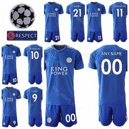 74543ed494 Leicester Cidade FC 9 Jamie Vardy Jersey Set 2018 2019 Futebol 10 James  Maddison 14 Ricardo Pereira 11 ALBRIGHTON Camisa De Futebol Kits Uniforme