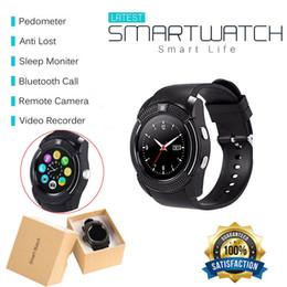 2019 a1 montre intelligente V8 Bluetooth montre intelligente avec montre-bracelet à écran tactile avec fente pour carte SIM caméra étanche montre intelligente M2 A1 a1 montre intelligente pas cher