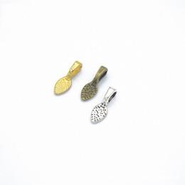 Pendenti di colla online-Bulk 1000pcs Spoon fai da te ovale gioielli Scrabble colla su orecchino Barre per il montaggio di vetro Cabochon Tiles pendenti di 15 x 5mm