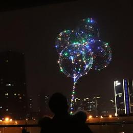 Luminoso Globo transparente LED Intermitente Decoraciones para fiestas de bodas Suministros de vacaciones Color Luminoso Globos Siempre brillante desde fabricantes