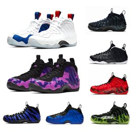 2019 homme pennies Nike AIR FOAMPOSITE one PRO Vandalized Purple Camo Foam one Penny Hardaway Mens Basketball Shoes Paranorman Doernbecher Memphis Tiger Galaxy men Sports Sneakers 7-13 homme pennies pas cher
