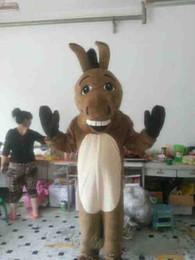2019 mascote de burro Venda quente Donkey Mascot Costume Adulto Tamanho Masculino Donkey Carnaval Festa Xmas Cosply Kit Mascotte Terno mascote de burro barato