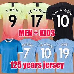 Üst Tayland İSA DE BRUYNE KUN AGUERO manchester city futbol formaları şehir 2019 2020 SANE forması 19 20 futbol KITI gömlek yetişkin ve çocuklar setleri Soccer Jerseys supplier soccer uniforms nereden futbol üniformaları tedarikçiler