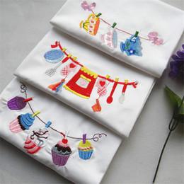 100 unids / lote absorbente paño bordado servilleta de cocina toallas de cocina accesorios de fotografía 45x70 cm desde fabricantes