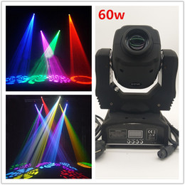 Bühnenlicht bewegte köpfe online-Heißes bewegliches Hauptlicht des Verkaufs 60w LED 7 Farbmodusfarbmusterlicht DMX512 Kanal-Sprachsteuerung engagierte Disco DJ-Parteibühnenbeleuchtung