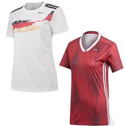 Espectador online-2019 Copa del Mundo de Fútbol femenino Jersey 19/20 # 9 PRINZ Uniforme de fútbol Dama # 7 BEHRINGER Camiseta de fútbol de manga corta para mujer