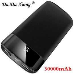 18650 30000mAh Power Bank Batteria esterna PoverBank 2 USB LED Powerbank Caricabatterie portatile per cellulare per Xiaomi MI iphone X da