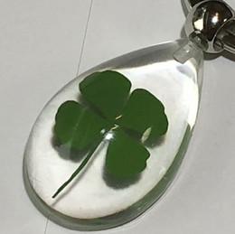 FREE SHIPPING yqtdmy 12 pcs Fashion Shamrock Four Leaf Clover Lucid Drop Style Keychain