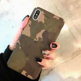 telefoni cellulari importati Sconti Per Iphone Xr Phone Cases Army Green Camouflage Tide Marca spruzzato olio importato Cassa del telefono cellulare duro per Iphone 6 7 8 Plus