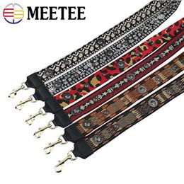 Uma alça de ombro sacos on-line-Meetee borla ampla alça de ombro cinto de inclinação crianças um ombro retro decoração de metal fita alças de moda bolsa parte acessórios