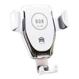 2019 carregador de iphone em forma de maçã Novo 10 W carro carregador sem fio suporte do telefone móvel um botão de função de pesquisa de carro PARA: iphone8 além de X Samsung S8 + S9 + carga rápida