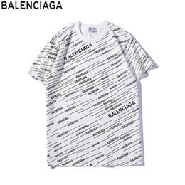 2019 cubierta bieber Balenciaga  T Camisa camiseta Hombre Mujer Pareja Moda Hombre Mujer Moda de lujo Nuevo diseño Verano de manga corta ropa corta