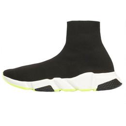 простые белые верхние ботинки Скидка 2019 Конструктор обувь Speed Trainer Черного Красного Гипсофила тройной черная Мода плоского Носок Ботинки Мужчины Женщина Повседневная обувь бегун с пылесборником