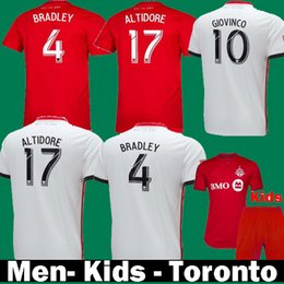 1443e4c3f Thailand 2020 FC Toronto BRADLEY GIOVINCO ALTIDORE MORGAN 2019 Soccer  Jerseys 19 20 Kids camisetas Toronto Home Red Away Football Shirts