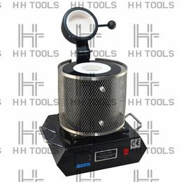 Rame 1kg online-Forni elettrici forno di fusione 1KG / 2KG / 3KG, alluminio, rame, oro, piombo, argento, forno di fusione ovale di induzione