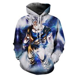 hoodie preto da bola do dragão z Desconto Dragon Ball Z Moletom Com Capuz 3D Impresso Pullovers Moletons Super Saiyan Son Goku Deus Preto Zamasu Troncos Vegeta Casaco Hoodies Outfit