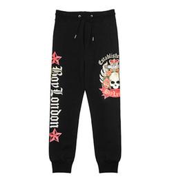 Pantalon negro estampado online-Boy London Pantalones de diseñador para hombre Moda Pantalones con estampado de águila Diseñador Hombres Mujeres Pantalones de chándal negros Pantalones casuales de algodón sueltos
