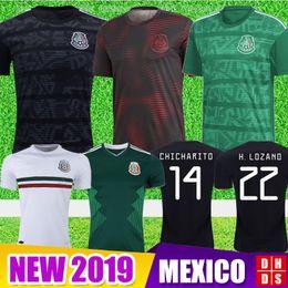 Formazione oro online-2019 Messico Soccer Jerseys Coppa d'oro CHICHARITO Camisetas de futbol kit Casa lontano LOZANO VELA RAUL LAYUN GUARDADO Allenamento Maglie calcio