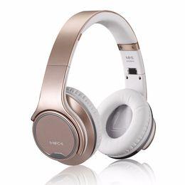 Auriculares nfc online-MH1 Bluetooth Auriculares inalámbricos Auriculares con sonido externo Auriculares estéreo Altavoz 2 en 1 tarjeta NFC TF 5pcs